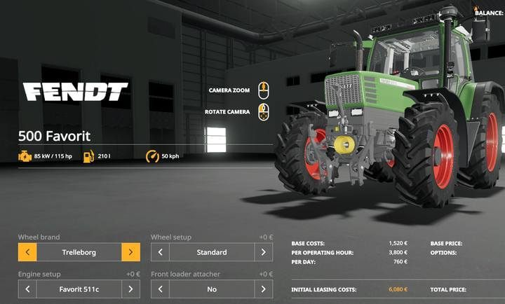 Fendt 500 Favorit. - Tractors and trucks available in Farming Simulator 19 - List of vehicles and machines - Farming Simulator 19 Guide and Tips