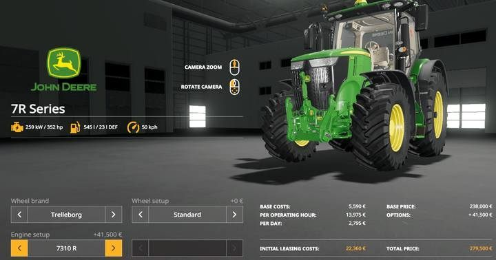 John Deere 7R Series. - Tractors and trucks available in Farming Simulator 19 - List of vehicles and machines - Farming Simulator 19 Guide and Tips