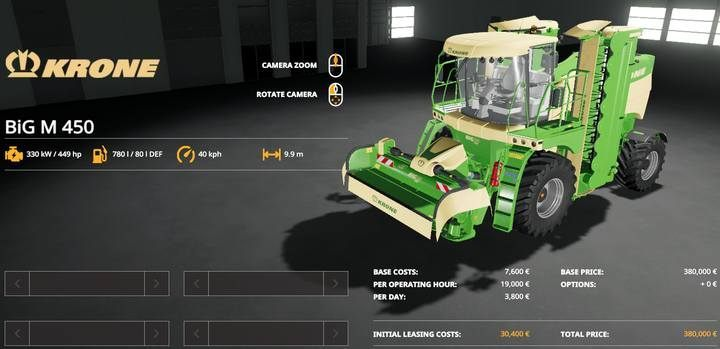 A self-propelled mower. - Machines for grass and hay in Farming Simulator 19 - List of vehicles and machines - Farming Simulator 19 Guide and Tips