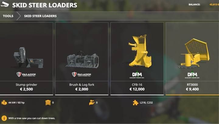 These loaders can be used in forestry to some extent - Forestry equipment available in Farming Simulator 19 - List of vehicles and machines - Farming Simulator 19 Guide and Tips