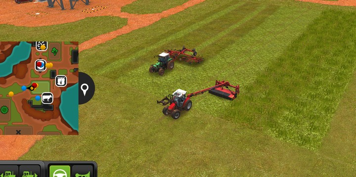 A lawn mower cuts grass and allows you to collect it and side-delivery rakes can put it in rows - Grass, straw, silage | For Beginners - For Beginners - Farming Simulator 18 Game Guide