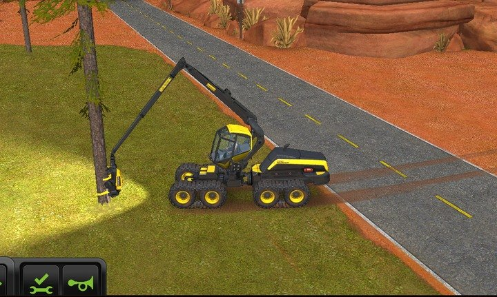 When the machines arm attaches to a tree you can start cutting - Forestry | For Beginners - For Beginners - Farming Simulator 18 Game Guide