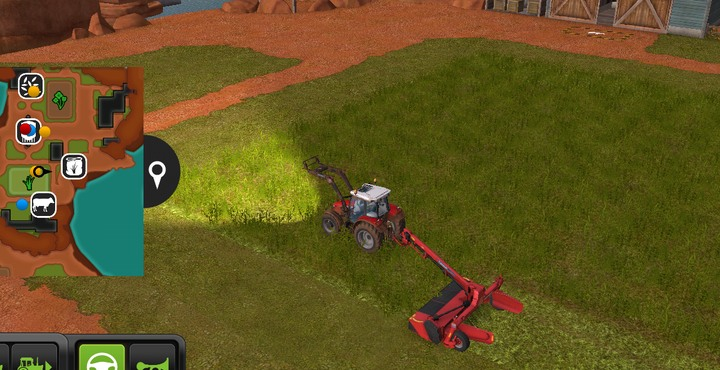 A basic lawn mower - mowing the entire meadow will take a lot of time - Working on meadows | Machines - Machines - Farming Simulator 18 Game Guide
