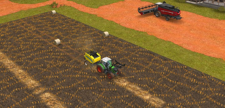 You can also create straw bales - Working on meadows | Machines - Machines - Farming Simulator 18 Game Guide