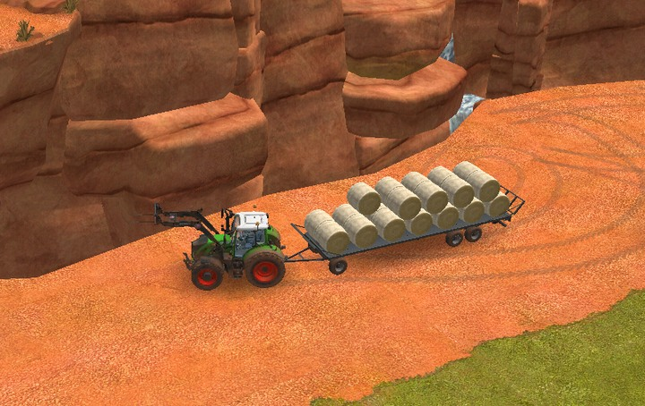 Wait with transporting your bales until the entire wagon is loaded. Thanks to that you dont have to go to the same place a few times in a row - Working on meadows | Machines - Machines - Farming Simulator 18 Game Guide