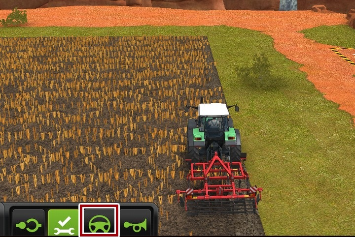 The steering wheel icon is used for hiring workers - Workers - Additional information - Farming Simulator 18 Game Guide