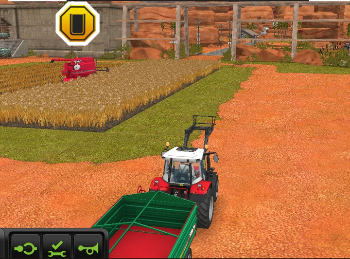 In the case of tippers and vehicles with animals - when you press the steering wheel icon you get access to an additional menu in which you can choose a destination - Workers - Additional information - Farming Simulator 18 Game Guide