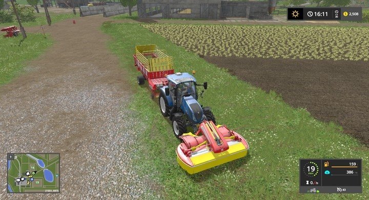 Grass and bales of hay | Descriptions of equipment - Farming
