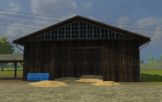 Selling station for straw and hay. Unload the trailer inside and you'll receive money. - Locations and buildings - The basics - Farming Simulator 2013 - Game Guide and Walkthrough