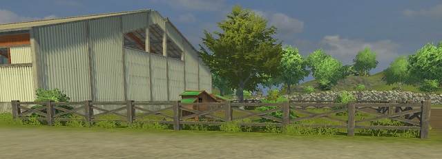 Chicken farm near the starting location. - Locations and buildings - The basics - Farming Simulator 2013 - Game Guide and Walkthrough