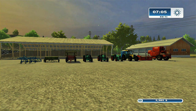 What you begin the game with. - Vehicles and machines at disposal - The basics - Farming Simulator 2013 - Game Guide and Walkthrough
