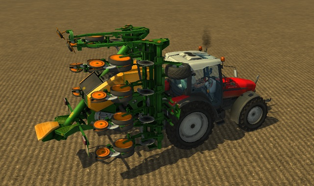 AMAZONE EDX 6000 in the starting position. - Growing sugar beets - Agriculture - Farming Simulator 2013 - Game Guide and Walkthrough