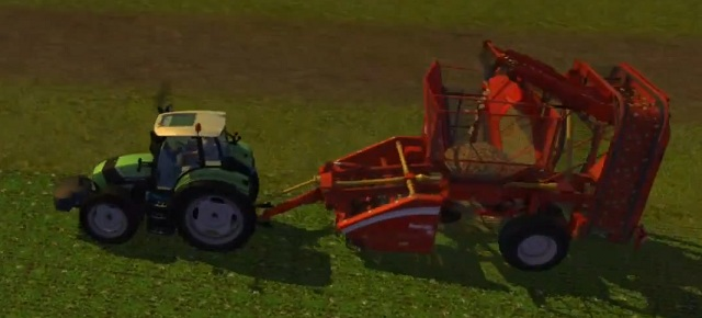 Harvesting sugar beet with Grimme Rootster 604. - Growing sugar beets - Agriculture - Farming Simulator 2013 - Game Guide and Walkthrough