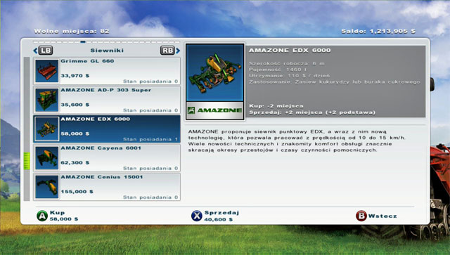 Buying a sugar beets planter. - Growing sugar beets - Agriculture - Farming Simulator 2013 - Game Guide and Walkthrough