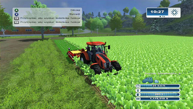 Defoliating with this machine is long because of the small width. - Growing sugar beets - Agriculture - Farming Simulator 2013 - Game Guide and Walkthrough