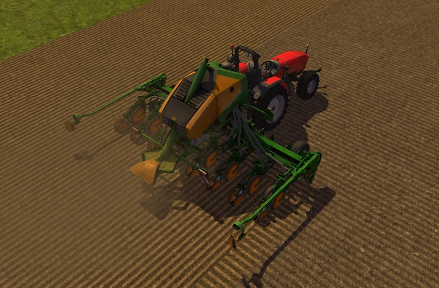 Seeding corn with AMAZONE EDX 6000. - Growing corn - Agriculture - Farming Simulator 2013 - Game Guide and Walkthrough
