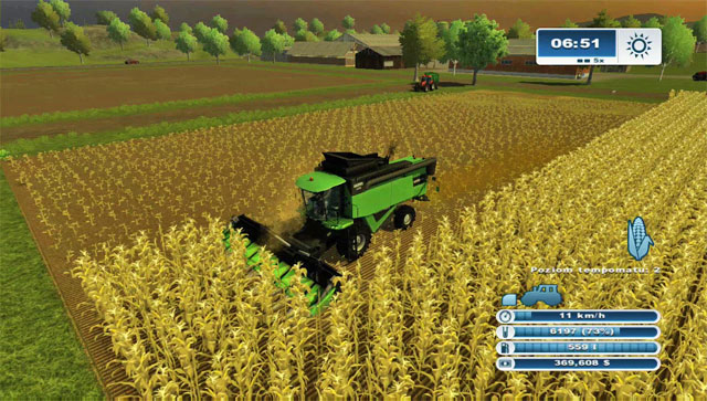 Harvesting using them (7,2 m wide) is a pleasure. - Growing corn | Agriculture - Agriculture - Farming Simulator 2013 Game Guide