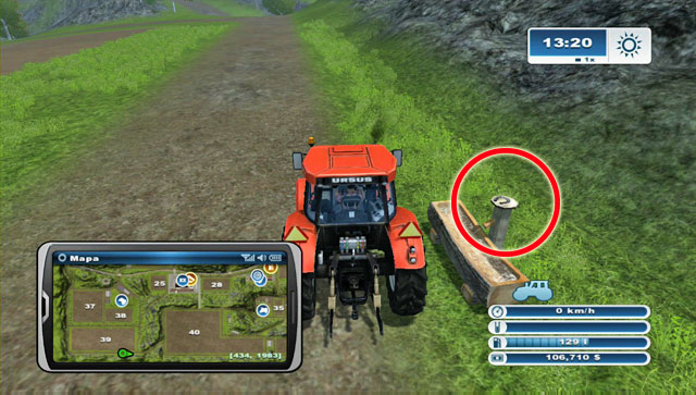 On a well by the road south of field 39 - Area A: horseshoes #1-#13 - Horseshoes - Farming Simulator 2013 - Game Guide and Walkthrough