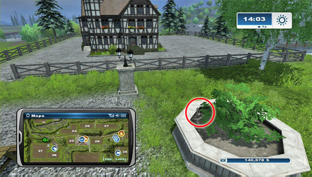 To the north of the sheep pasture you will find a house - Area A: horseshoes #1-#13 - Horseshoes - Farming Simulator 2013 - Game Guide and Walkthrough