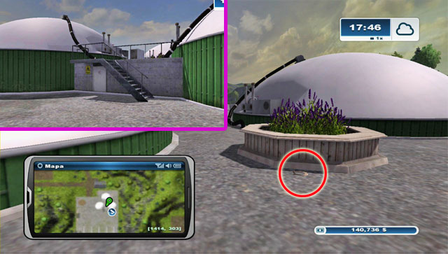 Firstly locate a staircase leading to the top of the building with three domes at the top - Area G: horseshoes #74-#89 - Horseshoes - Farming Simulator 2013 - Game Guide and Walkthrough