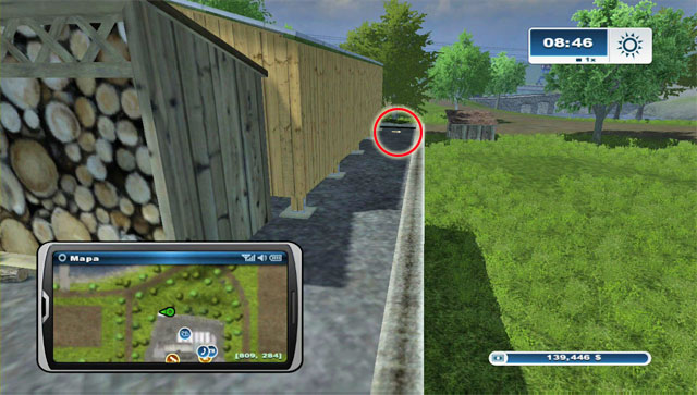At the back of the Farm Shop there's a shelter - Area G: horseshoes #74-#89 - Horseshoes - Farming Simulator 2013 - Game Guide and Walkthrough