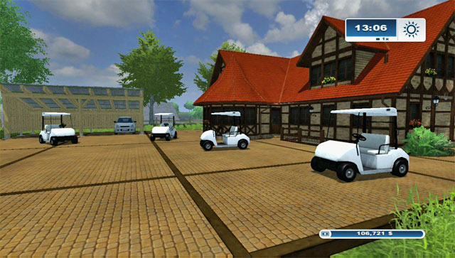 There are four golf carts available in the game - Golf carts - Farming Simulator 2013 - Game Guide and Walkthrough