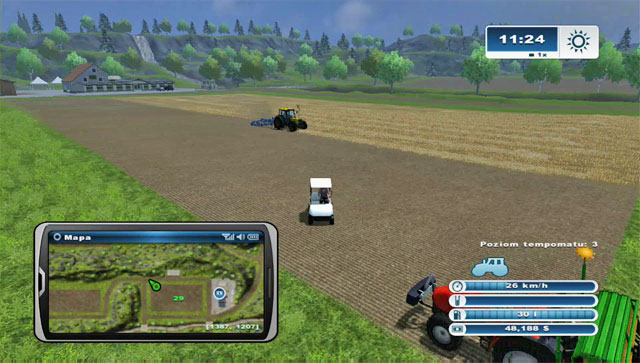 The golf cart, even once you obtain it, isn't accessible through the menu (jumping between vehicles) - Golf carts - Farming Simulator 2013 - Game Guide and Walkthrough