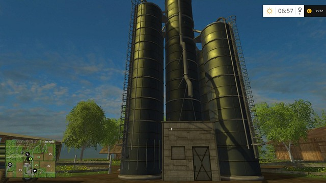 Grain silo. - The farm - buildings and starting machines - Basics - Farming Simulator 15 Game Guide