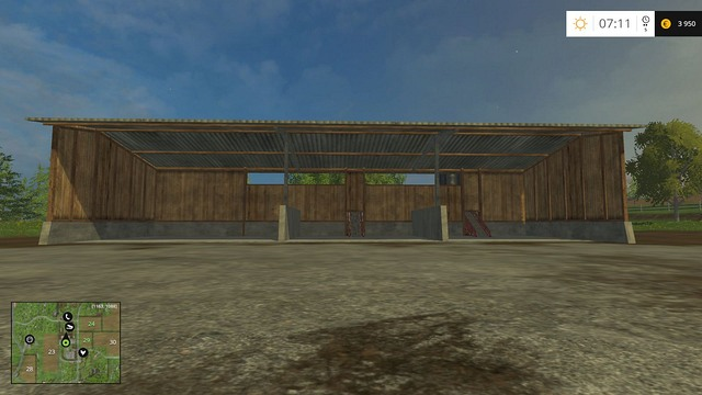 A place for wood chips, sugar beets and potatoes. The products are loaded behind the building. - The farm - buildings and starting machines - Basics - Farming Simulator 15 Game Guide