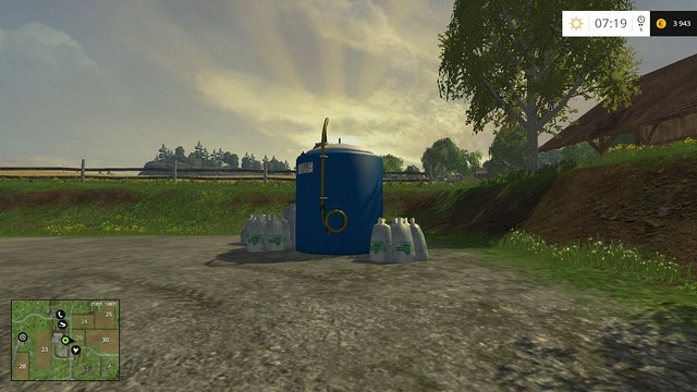 Fertilizer tank. - The farm - buildings and starting machines - Basics - Farming Simulator 15 Game Guide