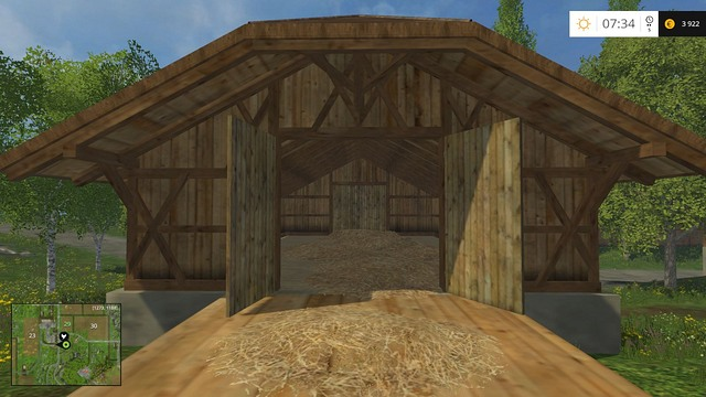 Straw and hay barn. - The farm - buildings and starting machines - Basics - Farming Simulator 15 Game Guide