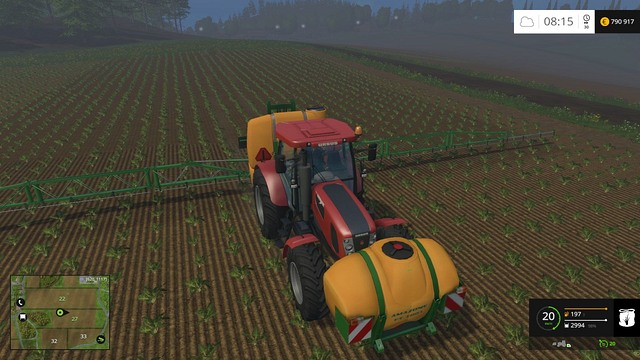Spraying and fertilizing are task that you have to do yourself, but it is a fast and easy work and of course increases the crop amount. - Growing plants - preparation, harvest and selling - Basics - Farming Simulator 15 Game Guide