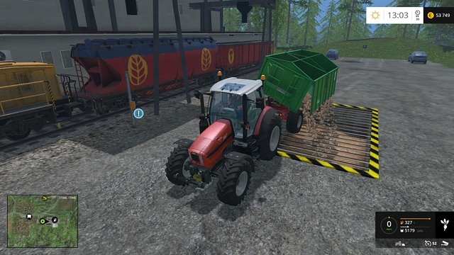 Unloading the crop in a store. - Growing plants - preparation, harvest and selling - Basics - Farming Simulator 15 Game Guide