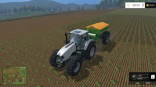 Darker soil means that the place was sprayer/fertilized and will bring bigger crop. - Growing plants - preparation, harvest and selling - Basics - Farming Simulator 15 Game Guide