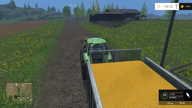 A trailer full of gold... or corn. - Comparison - Plants - Farming Simulator 15 Game Guide