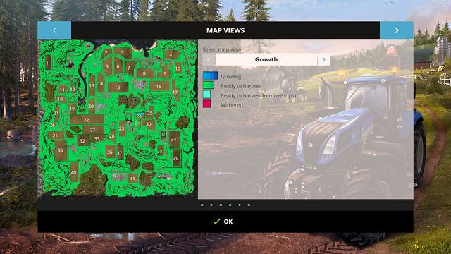 The view of all the fields. - PDA - Basics - Farming Simulator 15 Game Guide