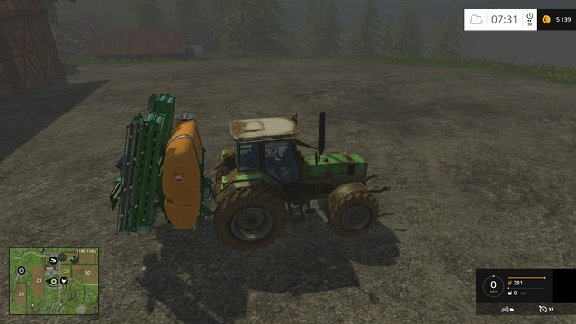 A freshly purchased sprayer will appear on the map after resetting it. - Buying and selling machines - Basics - Farming Simulator 15 Game Guide
