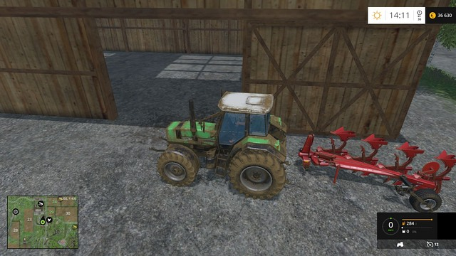 You will find a plow somewhere on your farm. - Joining fields - Basics - Farming Simulator 15 Game Guide