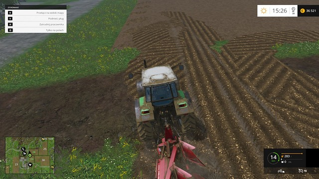 Plowing a way between two fields. - Joining fields - Basics - Farming Simulator 15 Game Guide