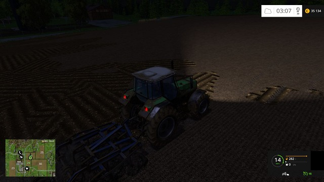 Cultivating in the night, so the neighbor would become green with envy tomorrow. - Joining fields - Basics - Farming Simulator 15 Game Guide