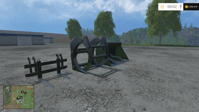 Available tools - Wheel loader - Machines - Farming Simulator 15 Game Guide