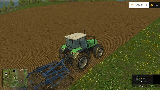 The biggest field, no. 38, requires cultivating. - Sowing, cultivation, harvest - Basics - Farming Simulator 15 Game Guide