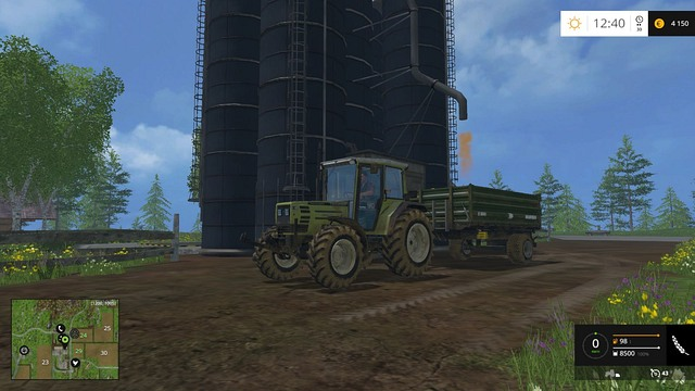 Loading up the trailer is only possible when you have enough supplies in your silo (it will be empty on high level of difficulty). - Selling the crop and further gameplay - Basics - Farming Simulator 15 Game Guide
