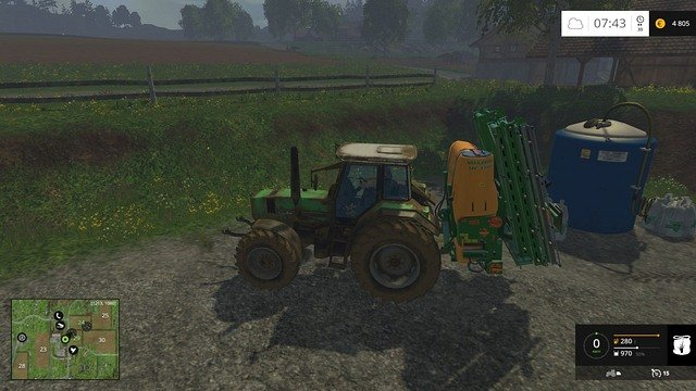 Before using the sprayer, you have to refill it. - Buying a sprayer - Basics - Farming Simulator 15 Game Guide
