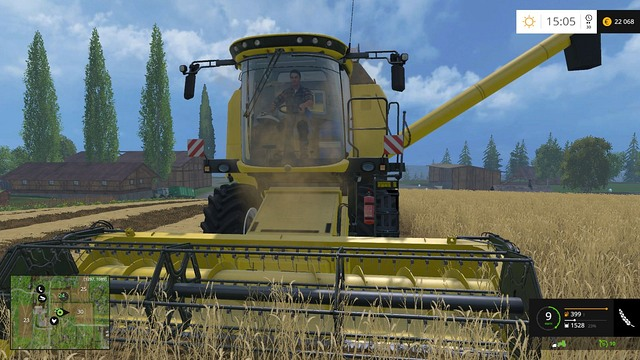 A new harvester will make the harvest faster thanks to a wider header and a bigger container. - Changing your equipment - Basics - Farming Simulator 15 Game Guide