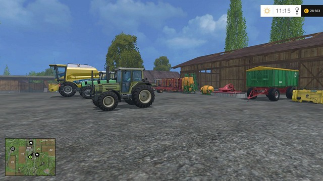 With several new machines, you can start thinking about a new field. - Changing your equipment - Basics - Farming Simulator 15 Game Guide