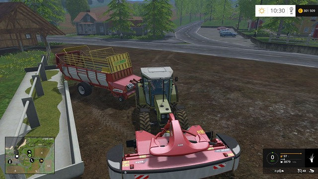 Feeding your sheep is very easy - you just have to unload the grass - Sheep - Animals - Farming Simulator 15 Game Guide