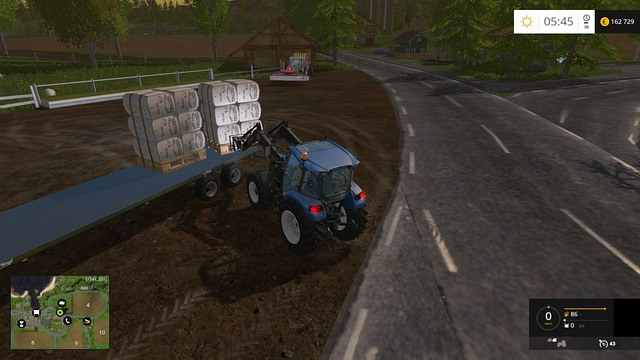 Remember to place the pallets close to one another so that you can fit 4 stacks onto the trailer. - Sheep - Animals - Farming Simulator 15 Game Guide