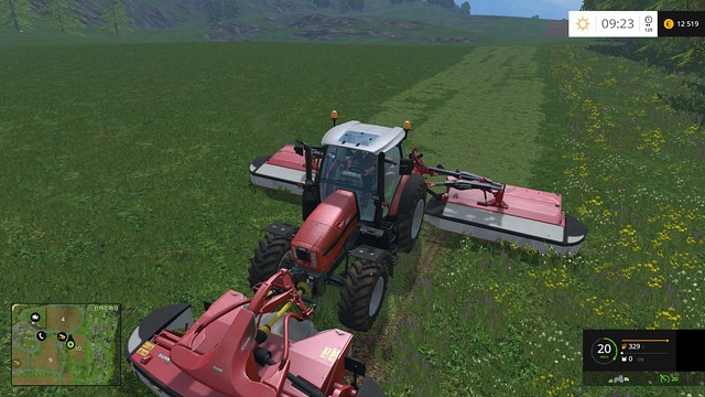 The most efficient method of mowing. - Sheep - Animals - Farming Simulator 15 Game Guide