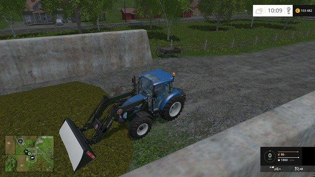 I takes only a second to load the silage. - Cows - Animals - Farming Simulator 15 Game Guide
